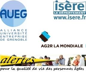 Logos AUEG, Département de l'Isère, AG2R La Mondiale, Alertes